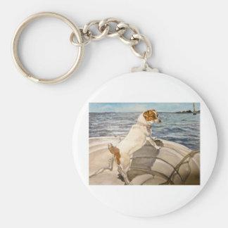 Jack Russell Terrier en el barco Llaveros