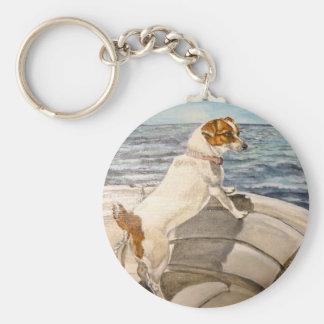 Jack Russell Terrier en el barco Llaveros Personalizados