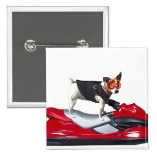 Jack Russell Terrier en el botón de Jetski Pins