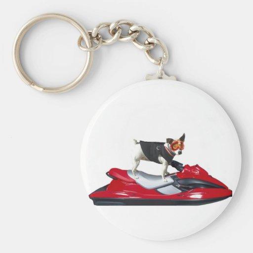 Jack Russell Terrier en el llavero de Jetski