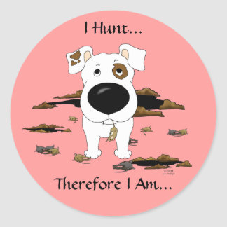 Jack Russell Terrier (enchufes) cazo… a los Pegatina Redonda