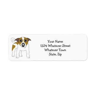 Jack Russell Terrier Etiqueta De Remite
