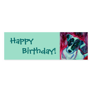 Jack Russell Terrier - etiqueta del regalo - Tarjetas De Visita Mini