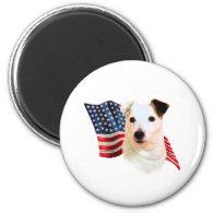 Jack Russell Terrier Flag Refrigerator Magnet