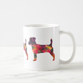 Jack Russell Terrier Geometric Pattern Silhouette Coffee Mug