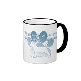 Jack Russell Terrier Grandchildren Ringer Coffee Mug