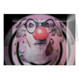 Jack Russell Terrier Happy Birthday Crazy Clown Card