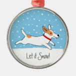 Jack Russell Terrier - Happy Snow Dog Holiday Christmas Ornament