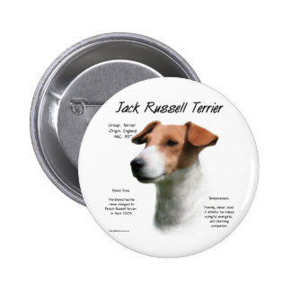 Jack Russell Terrier History Design Button