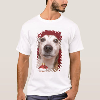 Jack Russell Terrier Holding Christmas Ornament T-Shirt