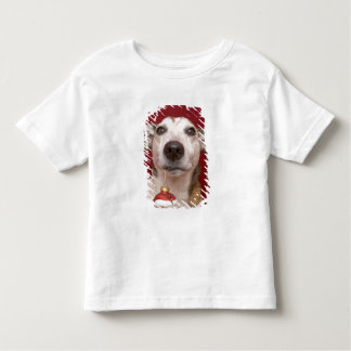 Jack Russell Terrier Holding Christmas Ornament Toddler T-shirt