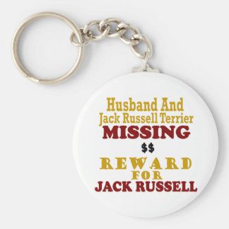Jack Russell Terrier & Husband Missing Reward For Keychain