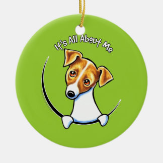 Jack Russell Terrier IAAM Off-Leash Art™ Ceramic Ornament