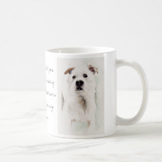 Jack Russell Terrier in watercolor with breed info Coffee Mug