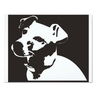 "Jack Russell Terrier Invitación 4.25"" X 5.5"""