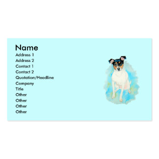 Jack Russell Terrier Jake Business Cards