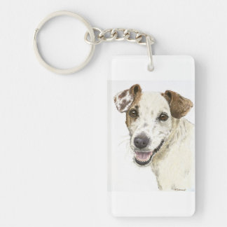 Jack Russell Terrier Acrylic Key Chain