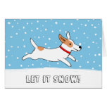 Jack Russell Terrier Let it Snow Dog Christmas Stationery Note Card