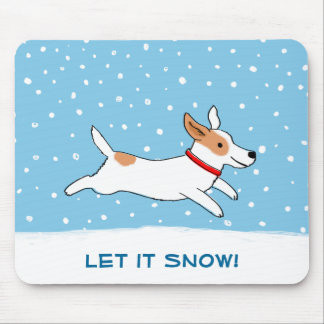 Jack Russell Terrier Let it Snow Dog Holiday Mouse Pad