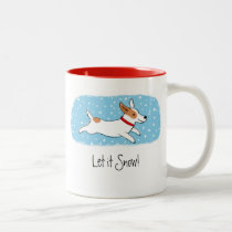 Jack Russell Terrier Let it Snow Dog Holiday Two-Tone Coffee Mug