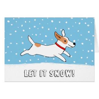 Jack Russell Terrier lo dejó nevar navidad del per Tarjeta
