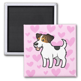 Jack Russell Terrier Love 2 Inch Square Magnet