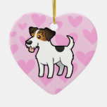 Jack Russell Terrier Love (add your own message) Christmas Ornaments