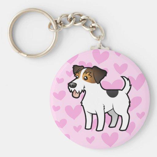Jack Russell Terrier Love Basic Round Button Keychain
