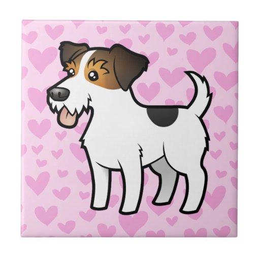 Jack Russell Terrier Love Ceramic Tile