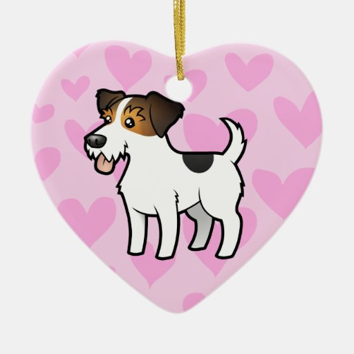 Jack Russell Terrier Love Christmas Tree Ornaments