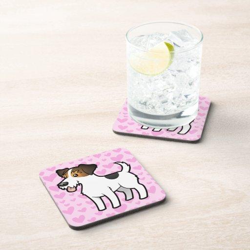 Jack Russell Terrier Love Coaster