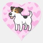 Jack Russell Terrier Love Heart Sticker