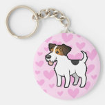 Jack Russell Terrier Love Key Chains