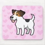 Jack Russell Terrier Love Mouse Pad