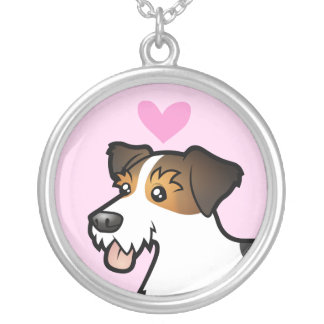 Jack Russell Terrier Love Round Pendant Necklace