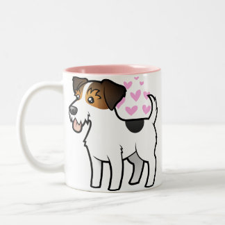 Jack Russell Terrier Love Two-Tone Coffee Mug