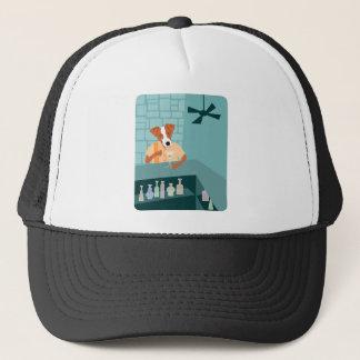 Jack Russell Terrier Martini Bar Trucker Hat