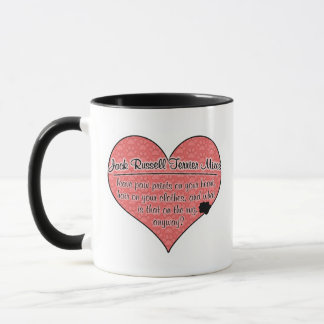 Jack Russell Terrier Mixes Paw Prints Dog Humor Mug