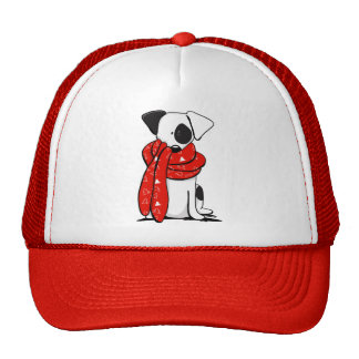 Jack Russell Terrier Modern Red Scarf Trucker Hat