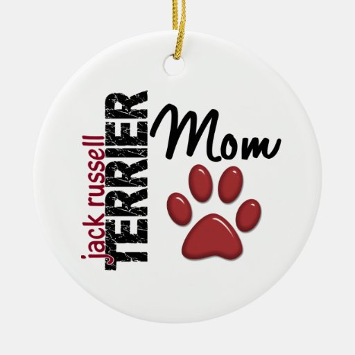 Jack Russell Terrier Mom 2 Christmas Ornaments