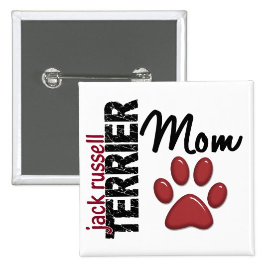 Jack Russell Terrier Mom 2 Pinback Button