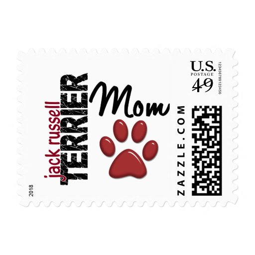 Jack Russell Terrier Mom 2 Postage Stamps