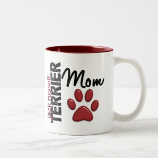 Jack Russell Terrier Mom 2 Two-Tone Coffee Mug