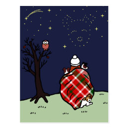 Jack Russell Terrier Mom and Starry Sky Postcard