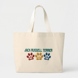 JACK RUSSELL TERRIER Mom Paw Print 1 Large Tote Bag