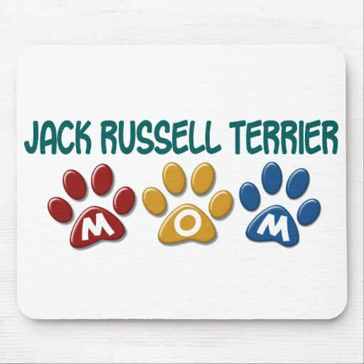 JACK RUSSELL TERRIER Mom Paw Print 1 Mouse Pad