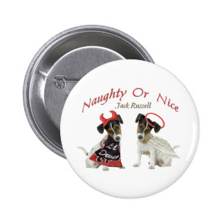 Jack Russell Terrier Naughty Or Nice Pin
