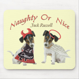 Jack Russell Terrier Naughty Or Nice Mouse Pad