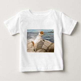 Jack Russell Terrier on boat Baby T-Shirt