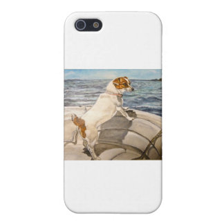 Jack Russell Terrier on boat iPhone SE/5/5s Cover